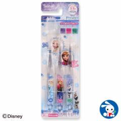 [ディズニー]園児用クリア歯ブラシ3本セット(アナと雪の女王)[歯ブラシ 赤ちゃん ベビー 乳歯 ハブラシ はぶらし はみがき ハミガキ ベ