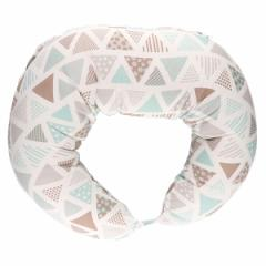 Wガーゼ抱き枕&授乳クッション(三角柄)[クッション 授乳クッション 赤ちゃん 抱き枕 お座り ベビークッション ナーシングピロー 授乳