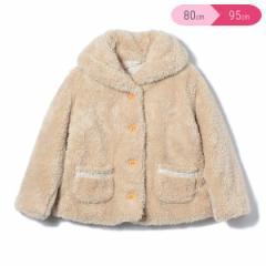 シャギーフリースコート【80cm・90cm・95cm】[女の子 アウトウェア アウター 防寒 ジャンパー ジャケット コート 上着 ベビー 子供 キッ