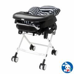 カトージ)スイングハイローラック ピッコロ(ボーダーブラック)[ベビーチェア スイング チェア 赤ちゃん 椅子 ベビー スウィング ゆり