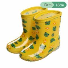 レインブーツ(カエル柄)【13cm・14cm・15cm・16cm・17cm・18cm】[靴 くつ 長靴 レインシューズ レインブーツ 雨靴 ジュニア キッズ 子