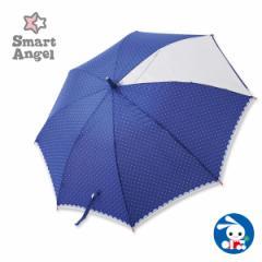 SmartAngel)ピンドット柄 透明窓付きワンタッチジャンプ傘【55cm】[西松屋]