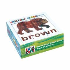 【英語本】 はらぺこあおむし エリック・カール くまさんブロックパズル クロニクルブックス EC Brown Bear Block Puzzle 【宅急便:サイ