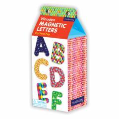 クロニクルブックス 木製マグネット おもちゃ カラフル文字 セット Pattern Pop Wooden Magnetic Letters