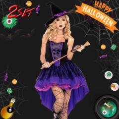 ハロウィン コスプレ 魔女 halloween コスチューム ドレス ワンピース 魔法使い