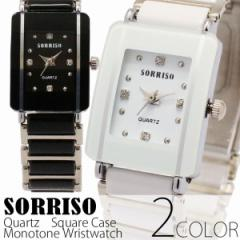 正規品SORRISOソリッソ シチズンミヨタムーブ 上品長方形ケース ラインストーン SRHI8S レディース腕時計 送料無料
