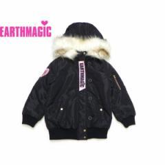 EARTHMAGIC アースマジック 子供服 18秋冬 フードファー付きブルゾン ea38310276