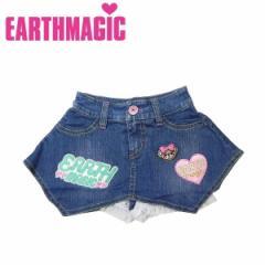 EARTHMAGIC アースマジック 子供服 18秋冬 ストレッチデニムパンツ付きスカート  ea38323167