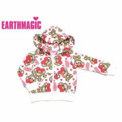 EARTHMAGIC アースマジック 子供服 18秋冬 おすわりマフィー柄パーカー ea38332181