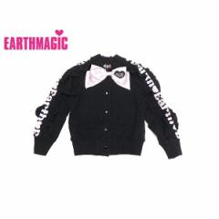 EARTHMAGIC アースマジック 子供服 18秋冬 袖ロゴストレッチミニ裏毛ブルゾン ea38332196