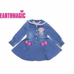 EARTHMAGIC アースマジック 子供服 18秋冬 セーラーカラーワンピース  ea38334194
