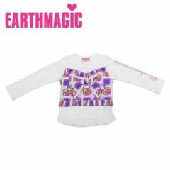 EARTHMAGIC アースマジック 子供服 18秋冬 チェック&マフィー柄リボンビスチェ付きLST  ea38340153