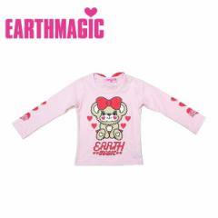 EARTHMAGIC アースマジック 子供服 18秋冬 袖ハートバックリボン長袖Tシャツ  ea38340162