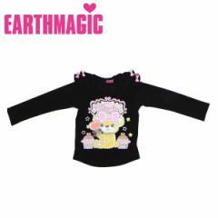 EARTHMAGIC アースマジック 子供服 18秋冬 ベア天竺肩フリル長袖Tシャツ  ea38340171