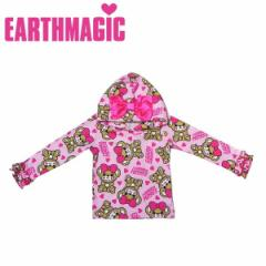EARTHMAGIC アースマジック 子供服 18秋冬 おすわりマフィー柄パーカー  ea38344161