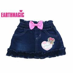 EARTHMAGIC アースマジック 子供服 18秋冬 カットデニムスカート  ea38353204