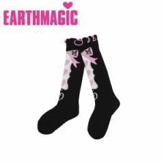EARTHMAGIC アースマジック 子供服 18秋冬 フレーム柄ハイソックス  ea38382335