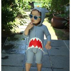 【衛生用品のため返品・交換不可】 韓国子供服 ベビー キッズ ボーイズ水着 ジョーズ  kz1805281