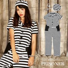 ハロウィン コスチューム 仮装 コスプレ 衣装  囚人 レディース メンズ 男女兼用 ユニセックス  ボーダー プリズナー 囚人服 制服 女性