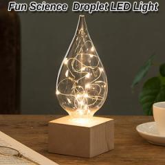 卓上インテリア「しずくLEDライト」(Fun Science 滴 卓上LEDライト 間接照明 卓上スタンドライト オブジェ ギフト 贈り物)