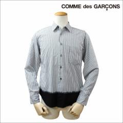 COMME des GARCONS BLACK コムデギャルソン シャツ 長袖 ストライプ ブラック ホワイト メンズ