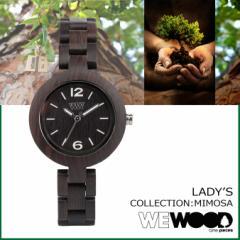 WEWOOD 腕時計 レディース ウィーウッド MIMOSA ブラック BLACK NATURAL WOOD