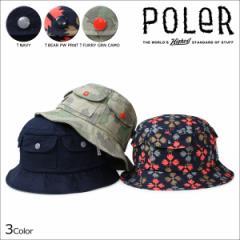 ポーラー POLER ハット バケットハット 帽子 メンズ レディース POCKET BUCKET