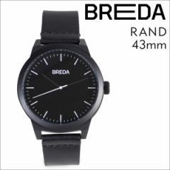 ブレダ BREDA 腕時計 43mm メンズ 時計 ランド RAND 8184H ブラック