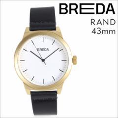 ブレダ BREDA 腕時計 43mm メンズ 時計 ランド RAND 8184K ゴールド ブラック