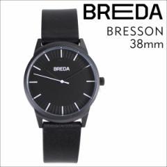 ブレダ BREDA 腕時計 38mm メンズ 時計 ブレッソン BRESSON 5020C ブラック ブラック