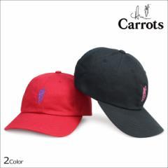 Carrots キャロッツ キャップ メンズ レディース 帽子 スナップバック KATAKANA DAD HAT ブラック レッド