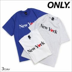 ONLY NY オンリーニューヨーク Tシャツ メンズ 半袖 トップス クルーネック NEW YORK LOVE T-SHIRT 3カラー