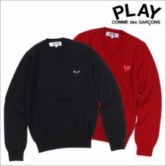 コムデギャルソン PLAY ニット セーター COMME des GARCONS レディース HEART PULLOVER AZ-N002 AZ-N018 ブラック レッド