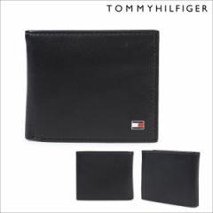 トミーヒルフィガー 財布 TOMMY HILFIGER 二つ折り財布 メンズ レザー OXFORD BI-FOLD WALLET 96-4511 31TL25X003 ブラック [2/7 再入荷]