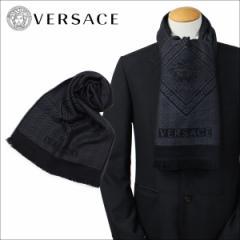 ベルサーチ VERSACE マフラー ヴェルサーチ メンズ ウール イタリア製 カジュアル ビジネス 0641