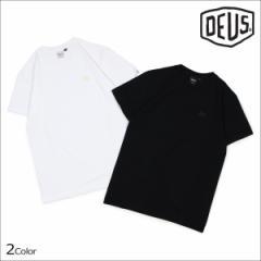 デウスエクスマキナ Deus ex Machina Tシャツ メンズ 半袖 STANDARD SS EMBROIDERED TEE ブラック ホワイト