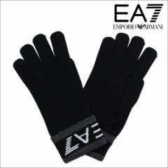 エンポリオ アルマーニ 手袋 メンズ 防寒 EMPORIO ARMANI EA7 イーエーセブン ブラック ビジネス カジュアル 2755617A393