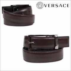 ヴェルサーチ VERSACE ベルト ベルサーチ メンズ 本革 レザーベルト ブラウン イタリア製 カジュアル ビジネス V91225S