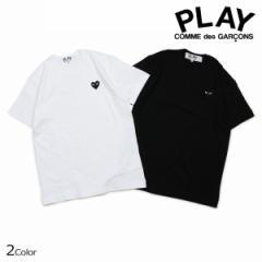 コムデギャルソン PLAY COMME des GARCONS Tシャツ メンズ 半袖 BLACK HEART T-SHIRT ブラック ホワイト AZT064 [3/22 追加入荷]