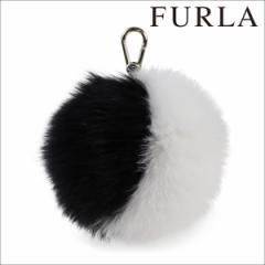 18f9ad9604a9 フルラ FURLA キーリング キーホルダー ファー チャーム フォックスファー ブラック BUBBLE 852514