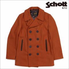 ショット Schott ピーコート Pコート コート メンズ HEATHERED WOOL PEACOAT ブラウン 762N