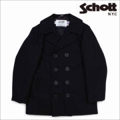 ショット Schott ピーコート Pコート コート レディース CLASSIC 32 OZ MELTON WOOL PEA COAT ブラック 750W