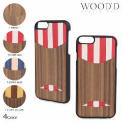 Wood'd ウッド iPhone8 iPhone7 6s ケース スマホ アイフォン POCKET 木製 メンズ レディース