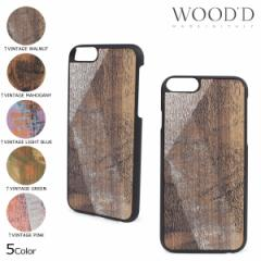 Wood'd ウッド iPhone8 iPhone7 6s ケース スマホ アイフォン VINTAGE 木製 メンズ レディース