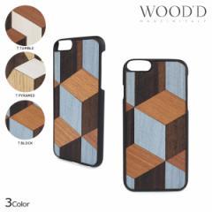 Wood'd ウッド iPhone8 iPhone7 6s ケース スマホ アイフォン GEOMETRIC 木製 メンズ レディース