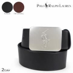 ポロ ラルフローレン ベルト メンズ 牛革 POLO RALPH LAUREN レザーベルト カジュアル ブラック ダークブラウン 405141585