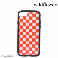 wildflower ケース スマホ iPhone8 X ワイルドフラワー iPhone ケース 7 6s 6 アイフォン レディース ハンドメイド レッド