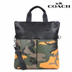 コーチ COACH バッグ トートバッグ メンズ レディース レザー オレンジカモ F24765