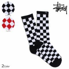 ステューシー STUSSY ソックス 靴下 メンズ レッグウェア CHECKER SOCKS 138633