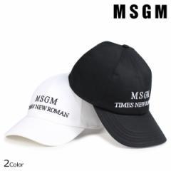 MSGM キャップ メンズ エムエスジーエム 帽子 BASEBALL CAP WITH LOGO ブラック ホワイト 2540ML05X 184544 8/6 新入荷